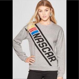 NASCAR graphic Color stripe longsleeve sweatshirt